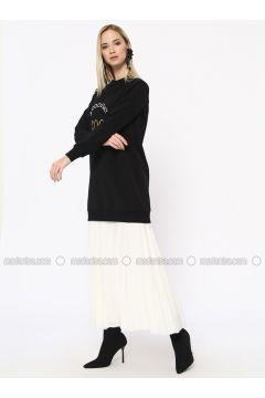 Cotton - Crew neck - Black - Sweat-shirt - Missemramiss(110330925)