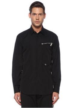 Dsquared2 Erkek Siyah Polo Yaka Gömlek 52 IT(119423238)