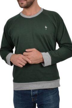 T-shirt Katz Outfitter Sweat homme Notellom Tee vert et gris - Sweat manches longues(115397667)