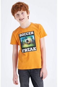 DeFacto Erkek Çocuk Hologram Baskılı Kısa Kollu T-shirt(119060075)