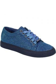 Chaussures Sara Lopez sneakers bleu textil BT995(115442990)