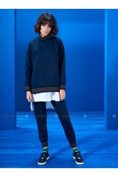 Polo neck - Navy Blue - Sweat-shirt - Mevra(110333666)