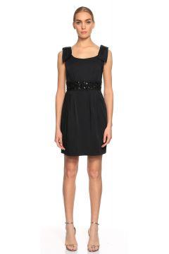 Blugirl-Blugirl İşleme Detaylı Mini Siyah Elbise(115708040)