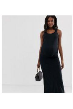 Mamalicious Maternity - Jersey-Maxikleid aus Bio-Baumwolle - Schwarz(94154916)