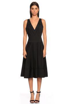 Donna Karan-Donna Karan V Yaka Siyah Elbise(115705210)