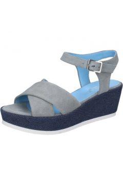Sandales Tres Jolie sandales gris daim BY416(115401138)