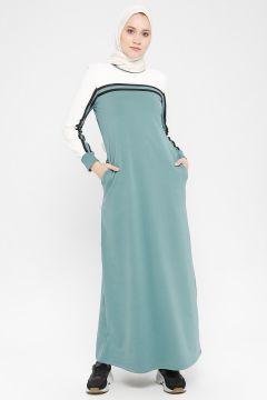 Robe MODAGÜL Blanc / Vert Pastel(108581470)