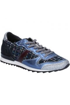 Chaussures Date sneakers bleu textile argent glitter BX59(115442475)