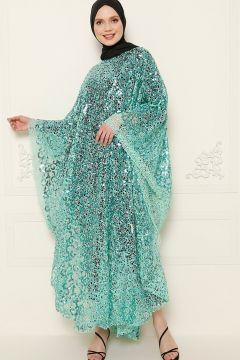 Abaya De Soirée Filizzade Vert Menthe(119071152)