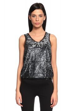 Guess-Guess Pul Payet Detaylı Siyah Tunik Elbise(117326071)