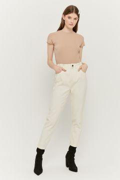 High Waist Paperbag Jeans(111106310)