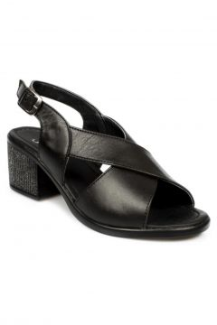 Stella 20351z Fashion Topuklu Siyah Kadın Sandalet(110947474)