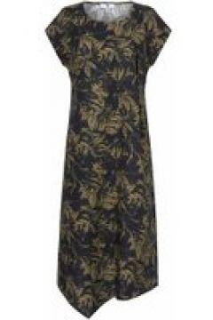 Leinenkleid Kleid aus 100% Leinen Anna Aura schwarz/oliv(119484909)