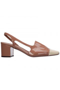 Women's leather pumps court shoes high heel(118301737)