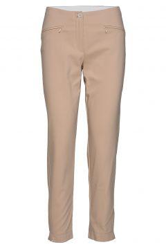 Crop Leisure Trouser Slimfit Hosen Röhrenhosen Beige GERRY WEBER(114155951)
