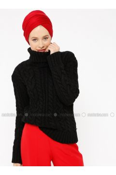 Black - Polo neck -- Jumper - Zentoni(110323409)