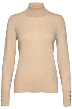 Nalakb Rollneck Rollkragenpullover Poloshirt Creme KAREN BY SIMONSEN(120748168)