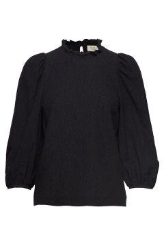 Carly Puff Sleeve Top Langärmliges T-Shirt Schwarz MAYLA STOCKHOLM(114153501)