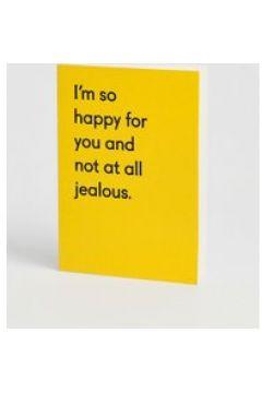 """Ohh Deer - Biglietto con scritta \""""Not at all jealous - Multicolore(92929078)"""