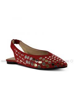 Red - Flat - Flat Shoes - Marjin(110337953)