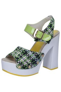 Sandales Suky Brand sandales vert textile cuir verni AB309(115395360)