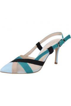 Sandales Guido Sgariglia sandales bleu textile beige daim BZ316(115418834)