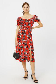 Random Kırmızı Desenli Elbise(114005007)