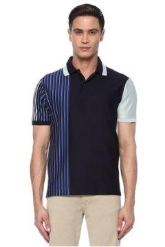 Paul Smith Erkek Lacivert Karışık Desenli Polo Yaka T-shirt Mavi XS EU(117578394)