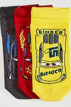 Çocuk Erkek Çocuk Arabalar Desenli Patik Çorap 3\'lü(127724975)
