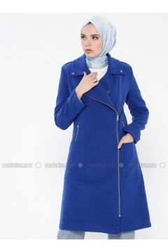 Saxe - Fully Lined - Point Collar - Coat - MOODBASİC(110339163)