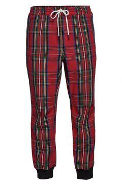 Tartan Zip Jogger Sweatpants Jogginghose Rot WESC(114157425)