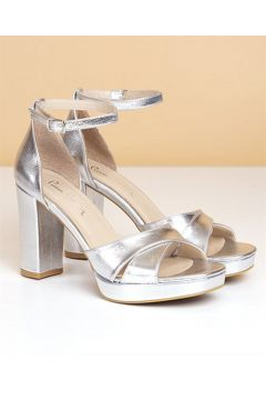 Pierre Cardin Pc-50166 Kadın Topuklu Ayakkabı-parlak Gümüş(117592203)