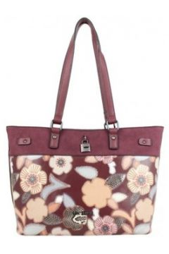 Cabas Mac Alyster Sac shopping Fragrance bordeaux motif fleur(115631512)