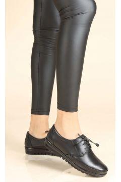 FAST STEP Hakiki Deri Ortopedik Siyah Kadın Ayakkabı(110943778)