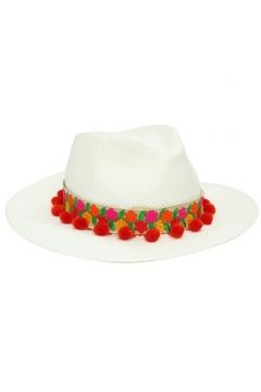 Helene Berman London Kadın Beyaz Çiçekli Bant Detaylı Ponponlu Şapka EU(114438711)