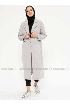 Gray - Unlined - Shawl Collar - Jacket - Meys(110336721)