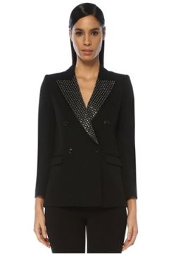 Isabel Marant Kadın Paryam Siyah Troklu Kruvaze Yün Blazer Ceket 38 FR(109109806)