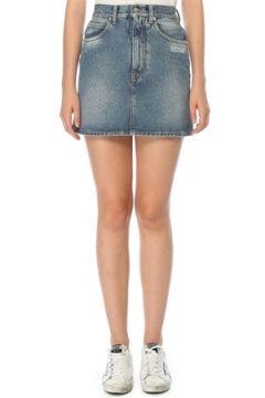 Off-White Kadın Normal Bel Mini Jean Etek Mavi 42 IT(121208154)
