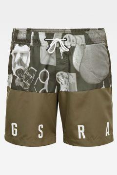 G-Star RAW Men Dirik Colourblocked Swimshorts Allover Grey(117926622)