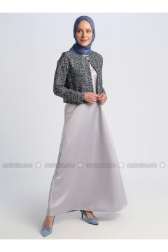 Gray - Multi - Unlined - Suit - Meys(110332632)