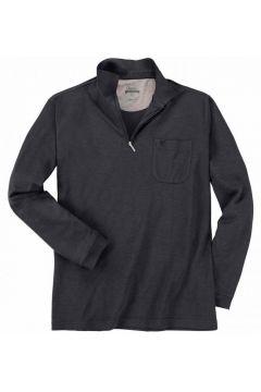 Hajo: Edles Poloshirt langarm, 4XL, Schwarz(94897455)