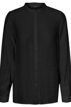 VERO MODA Hoge Kraag Overhemd Dames Zwart(114504612)