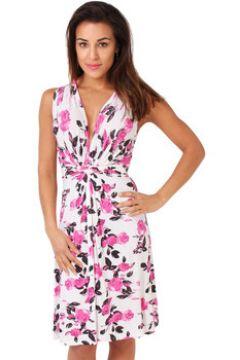 Robe Krisp Rose Imprimer Knot Front Dress(115498262)