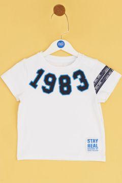 BG Baby Beyaz Erkek Bebek T-Shirt(114005776)