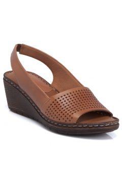 Tergan K.Taba Deri Kadın Sandalet 64337L18(118287775)