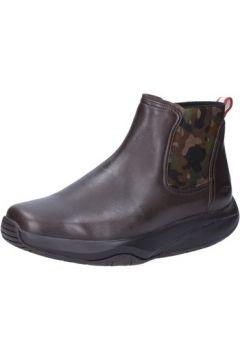 Boots Mbt bottines marron cuir vert textile AB189(115395132)