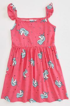 DeFacto Kız Bebek Unicorn Baskılı Elbise(119060778)