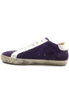 Baskets Blauer sneakers pourpre daim blanc cuir ky865(115401986)