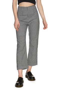 Pantalon Femme Afends Ryder Gingham High Waist - Black White(113905212)