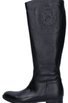 Bottes Trend bottes noir cuir AJ223(115399884)